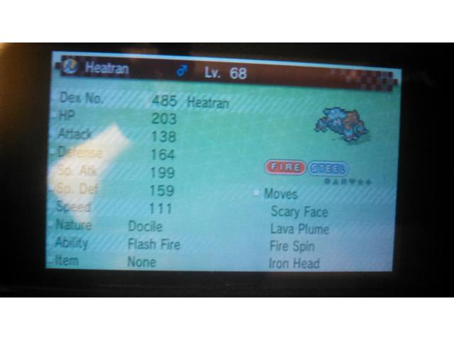 Heatran in Gen 6 Pokemon