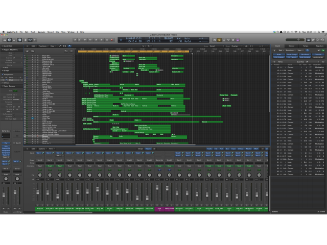 Music production and composition using Logic Pro X or 9.