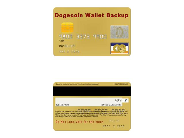 Dogecoin Wallet Backup USB card 4gb