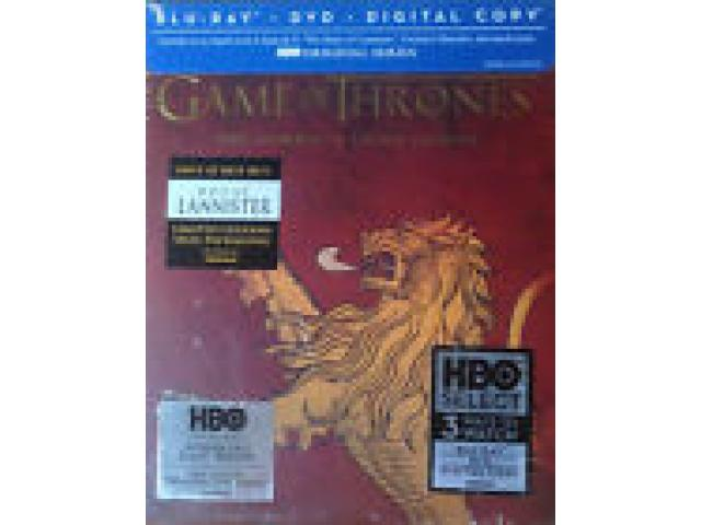 Sealed Lannister Season 3 Game of Thrones Cover Blu Ray
