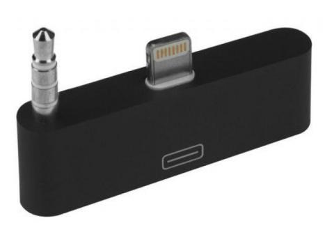 30 Pin to 8 Pin Dock 3.5mm Audio Converter Adapter for iPhone 5