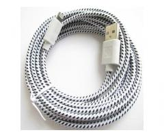 3M STRONG BRAIDED 8 pin Sync Data Cable USB Charger for iPhone 5 iPad 4 & Mini
