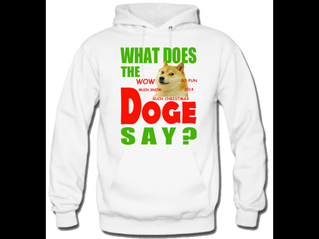 Funny What does a doge say hoodie