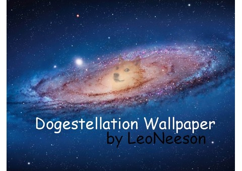 1Doge = Dogestellation Wallpaper by LeoNeeson