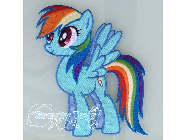 My Little Pony: Friendship is Magic RAINBOW DASH Iron on Embroidery Patch