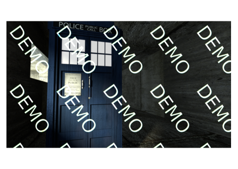 Doctor Who TARDIS Close Up photorealistic 4K desktop wallpaper