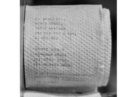 Poetry on a toilet paper