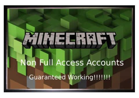 ☆10 Minecraft NFA Accounts☆ 0.89$ Guaranteed Working