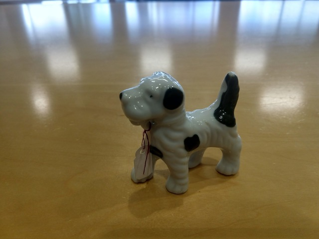 antique ceramic doge made in Japan
