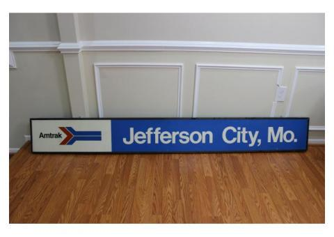 ORIGINAL AMTRAK TRAIN STATION SIGN