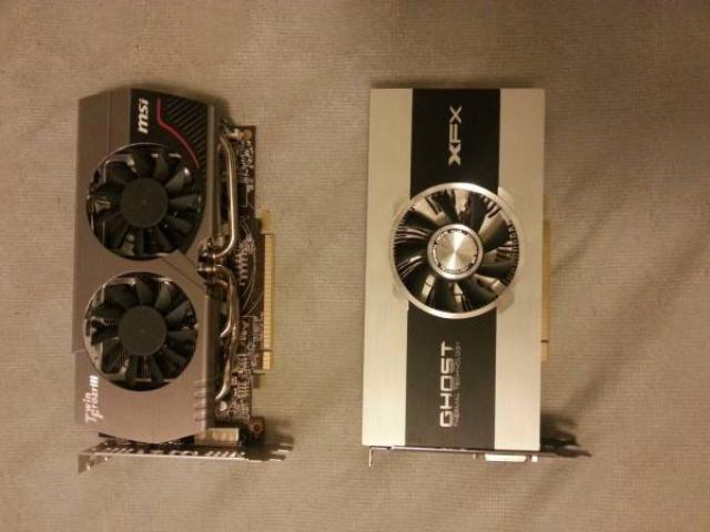Two AMD Radeon 7850 2 GB GPUs (350+kh/s each)