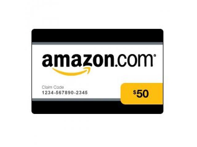 Amazon $50 Gift Card (I'll Email The Code To You)