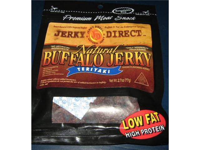 THE SWEET MEAT TREAT NATURAL BUFFALO JERKY SLAB STYLE TERIYAKI
