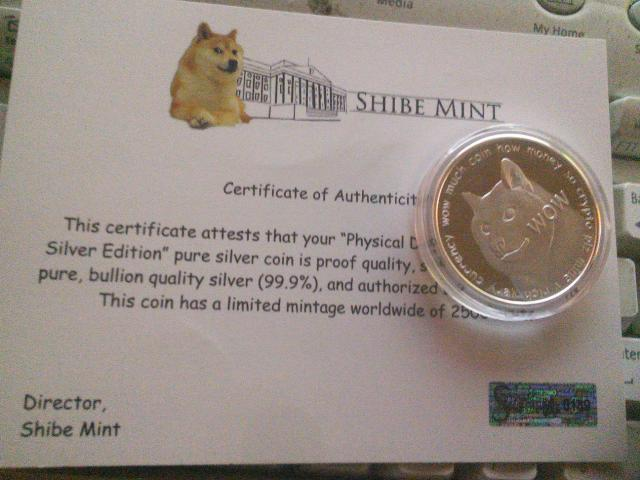 shibe mint ltd edition silver coin